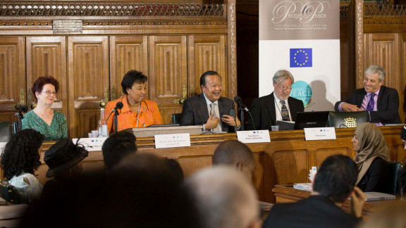 2014 13 Houses of Parliament London   with Baroness Scotland Sec Gen of The Commonwealth 2014